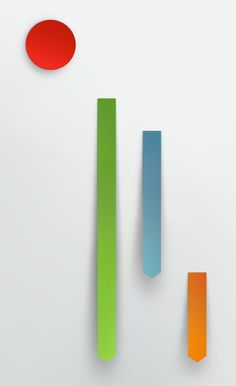 mkn design Michael Nÿkamp #cut #red #orange #graph #shadow #gray #blue #paper #chart #life #green