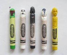 Star Wars crayon sculptures... #StarWars #tiny #sculpture #fanart