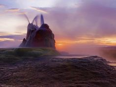 CJWHO ™ (Stunning Shots of Fly Geyser, Nevada's Hidden...) #amazing #geyser #design #landscape #colors #photography #nevada #nature