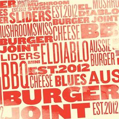 Burger Joint on Branding Served #typography #red #burger #knockout