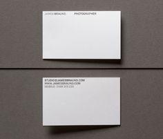 James Braund photographer #business #card #identity #minimal #typography