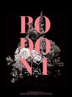 Bodoni Type Specimen on Behance