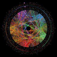 Pi Transition Paths Digital Art #pi #transition #digital #krzywinski #314 #art #paths #martin