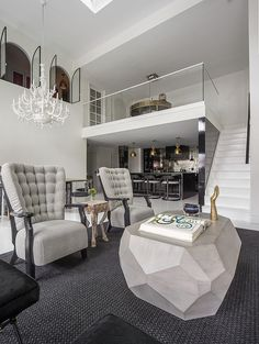 Eclectic design style and originality for Soho Penthouse / www.homeworlddesign.com #penthouse #bond #street