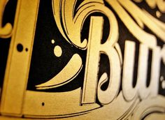 Just My Type Exhibition on the Behance Network #quote #print #screen #poster #silk #gold #type #typography