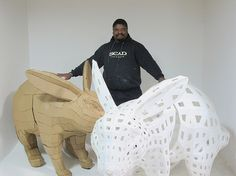 afsart:tessellated rabbit01,02 | Flickr - Photo Sharing! #rabbit #sculpture #fabrication #digital