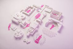Ink Studio #papercut #paper #pink #cinema #art #graphic #design #danse #stage