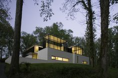 A Temple of Relaxation and Light in the Woods: Black White Residence #architecture #archtecture