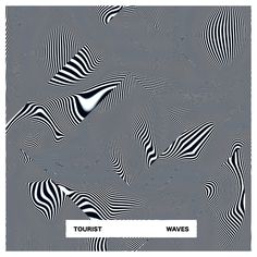 """Artwork inspired by Tourist's track """"Waves"""" by Quentin Deronzier  #artwork #albumart #albumcover #ligne #geometrical"""