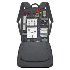 Keep your items organized on the go with this backpack. #modern #lifestyle #design #travel #backpack #product #industrial #outdoor #style