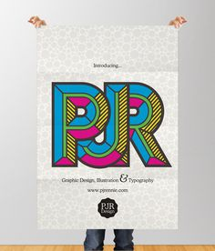 PJR Design Promo Poster Design by Phil Rennie #design #typographic #poster #idler #typography