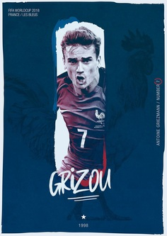 FIFA WORLDCUP 2018 on Behance / Soccer Poster / France / Antoine Griezmann