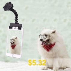 Pet #Selfie #Stick #Photo #Artifact #Dog #Look #Camera #Funny #Tool #- #BLACK