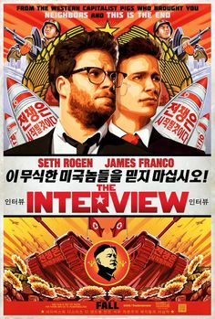 Extra Large Movie Poster Image for The Interview #propaganda #movie #rogen #north #korea #jon #interview #kim #james #un #poster #parody #communist #banned #franco #seth