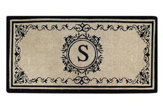 "Create your own style with this decorative Border Coco Fiber Door Mat. Durable and beautiful, this mat keeps shoes clean to protect your floors from mud, dirt and grime. It is flexible, robust and durable. This mat provides exceptional brushing action on footwear with excellent water absorption. Specification - Monogrammed Double Doormat with (S-Letter). Product Dimensions - *36"" x 72"" x 1.5"""