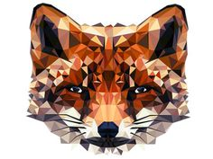 Fox #hope #fox #illustrator #color #little #triangle #colour #art #animal
