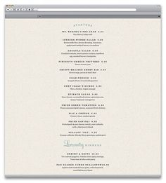 Poogan's Porch | Identity Designed #menu #web #restaurant #typography
