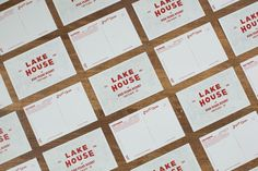 Tag Collective | Lake House Postcards #red #stationary #branding #design #clean #tag #vintage #collective #lake #nyc #postcard