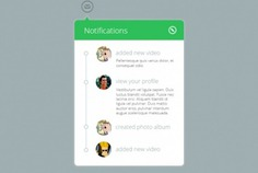 Green notification widget in flat style Free Psd. See more inspiration related to Green, Flat, List, Psd, Style, Notification, Webdesign, Horizontal and Widget on Freepik.