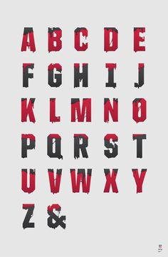 NIKE x NFL / APPAREL on Behance #nfl #illustration #alphabet #nike #type #football #typography