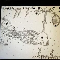 Beehive #ink #white #black #pen #sketch