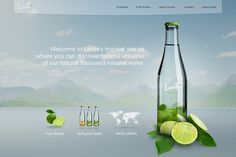 LEVITÉ mineral water on the Behance Network #website #levite #water #bottle