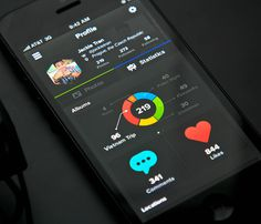 Showcase of Beautiful iPhone App UI Concept Designs #statistics #infographic #app #ui