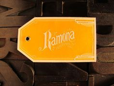 ramona_04 #type #orange #logo