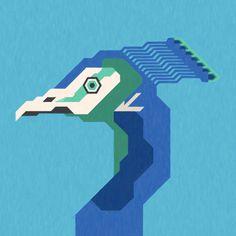 #peackock #bird #animal #minimal #feather