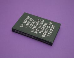 Adriaan Mellegers Graphic Design Studio #cover #type #book