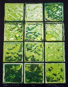 """Afternoon Warmth"" by Daniel Adams #woodcut #HUDesign #dadum #wood #print #window"