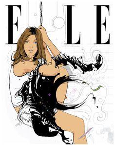 stephanemanel illustration elle #fashion #elle #illustration
