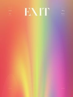 Exit #cover #magazine #art #gradient