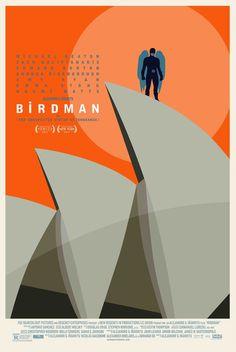 Mega Sized Movie Poster Image for Birdman #movie #orange #illustration #keaton #poster #birdman #michael