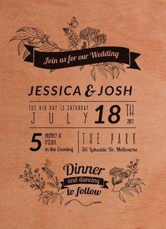 Rustic - Engagement Invitations #paperlust #engagement #engagementinvitation #invitation #engagementcards #engagementinspiration #weddingst