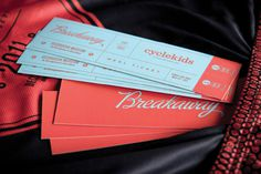 Breakaway #lettering #script #print #collateral #ticket