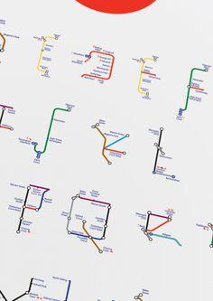The London Underground Modular Typeface on Behance #lettering #london #tube #metro #typography