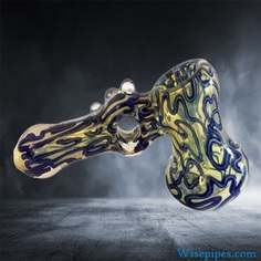 Our yellow and blue bubbler features a large water filtration chamber at the base and it stands independently of someone holding the piece up. We have priced this piece at a record low investment on our website so you can be out the door selling high quality smoking accessories to your clientele when you need to most. Happy shopping!