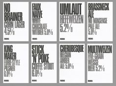 Post-projects - Brassneck Brewery #type #poster