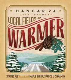 Hangar 24 Craft Brewery Warmer Label #packaging #beer #label #bottle