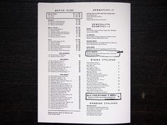 Sotto Christopher A. Ritter #futurism #menu #sotto