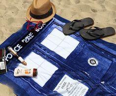 Doctor Who Tardis Beach Towel #tech #flow #gadget #gift #ideas #cool