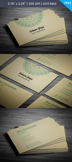 Free Yoga Mat Business Card Template