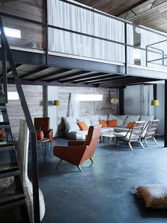 April and May: industrial home #interior #decor #living
