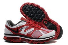 Nike Air Max 2012 University Red Black Metallic Silver-Mens #shoes