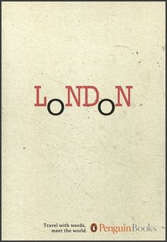 Penguin Books - Travel with words | bumbumbum #london #penguin #design #books