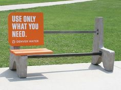 Sukle | UOWYN Bus Bench #campain #water #uowyn #denver #sukle