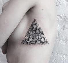minimalist flower tattoo