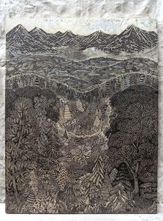 "THE ""OVERLOOK"" WOODCUT #printshop #tugboat"