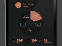 SJQHUB™ Visual Data on Behance #texture #ui #iphone #app #data #visualization